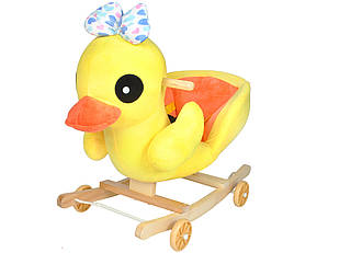 """Детская качалка на колёсах """"Утка"""" 2 в 1"""