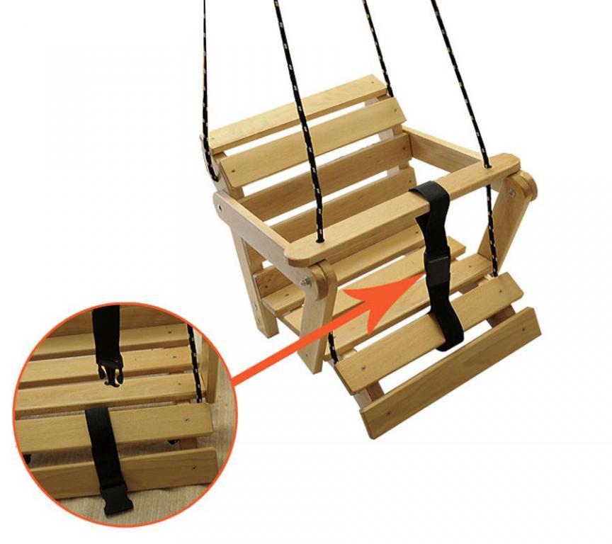 Детские  деревянные качели 5 в 1