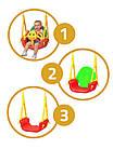 Детские качели подвесные  3 в 1, с 6 месяцев до 7 лет, фото 6