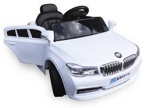 Детский автомобиль Cabrio B4 + пульт bluetooth + MP3 вход + функция медленный старт белый