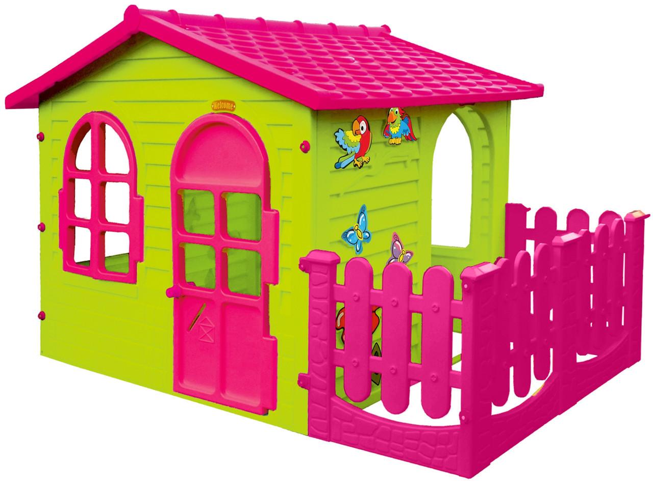 Детский игровой домик  Mochtoy розовая крыша