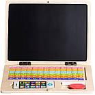 Детский развивающий деревянный ноутбук Ecotoys, фото 4