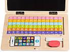 Детский развивающий деревянный ноутбук Ecotoys, фото 5