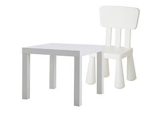 Детский столик IKEA + стульчик mammut