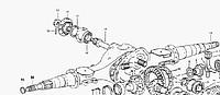 Картер (корпус, чулок) редуктора среднего моста FAW CA3252, Howo, Foton AC3251/2