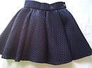 Практичная и нарядная школьная юбка- солнце Размер 122-152 черный цвет, фото 5