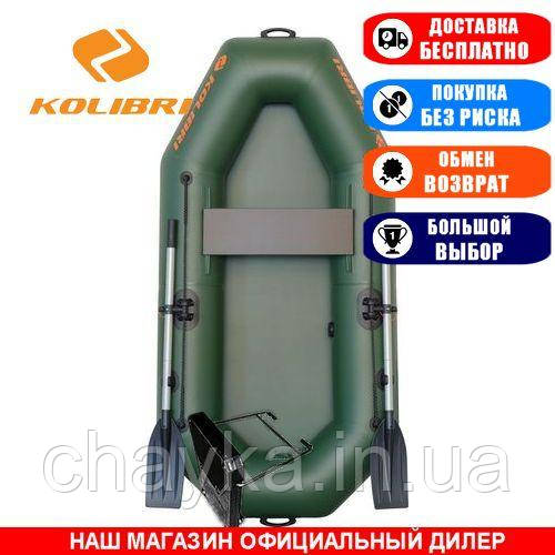 Лодка Kolibri K-210. Гребная, 2,10м, 1 место, 750/750ПВХ, сдвиж. с-нья, без днища. Надувная лодка ПВХ Колибри К-210;