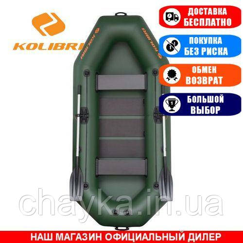 Лодка Kolibri K-280C. Гребная; 2,80м, 2мест. 950/950ПВХ, Реечный настил; Надувная лодка ПВХ Колибри К-280С;