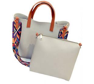 Женская сумка 2 в 1 экокожа WS1007