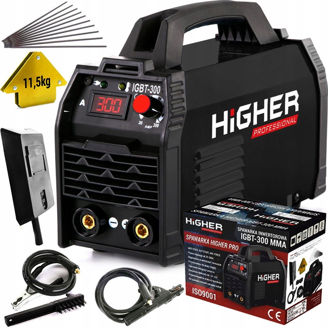 Инверторный сварочный аппарат HIGHER IGBT-300A