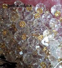 """Бусины прозрачные """"кристаллы с петлей"""", d=10мм,1упаковка=1000шт"""