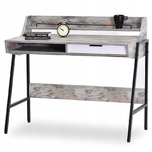 Компьютерный рабочий столик vintage серый