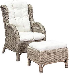 Кресло из ротанга с подставкой для ног CONSUL RATTAN RS01
