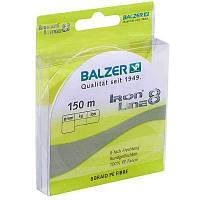Шнур Balzer Iron Line 8x Yellow 150м 0.27мм 27,5кг (желтый) (12661 027)