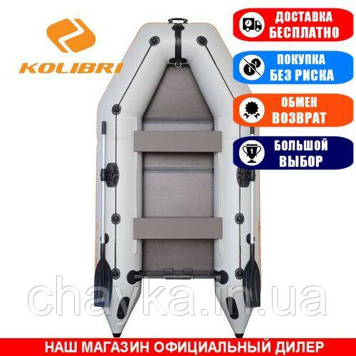 Лодка Kolibri KM-280K. Моторная, 2,80м, 2 места, 950/950ПВХ, сдвиж. с-нья, сплошное днище. Надувная лодка ПВХ Колибри КМ-280К;