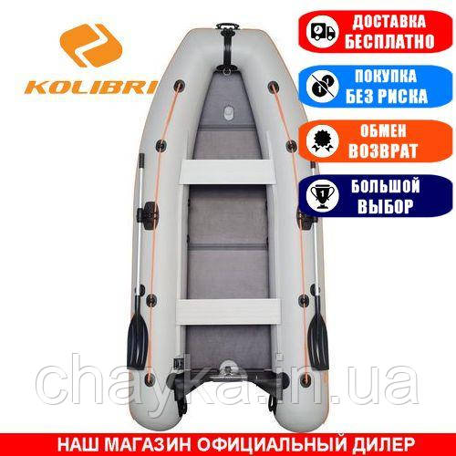 Лодка Kolibri KM-330DL. Моторная; 3,30м, 4 места, 950/950ПВХ, сплошное днище, киль. Надувная лодка ПВХ Колибри КМ-330ДЛ;