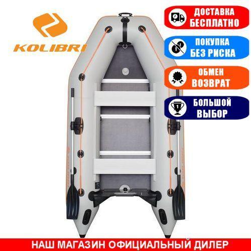 Лодка Kolibri KM-300D. Моторная, 3,00м, 3 места, 1100/1100ПВХ, сдвиж. с-нья, жесткое днище, киль. Надувная лодка ПВХ Колибри КМ-300Д;