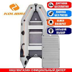 Лодка Kolibri KM-330DAl. Моторная килевая; 3,30м, 4мест. 950/950ПВХ, Алюминиевый настил; Надувная лодка ПВХ