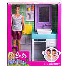 Кукла Барби Кен в ванной комнате - Barbie Ken Shaving & Bathroom, фото 7