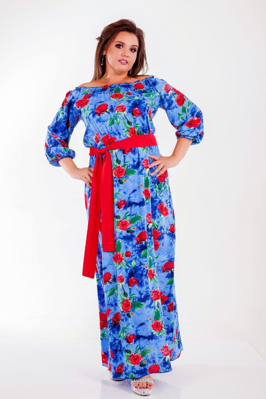 Летнее платье в цветочек 1 8265