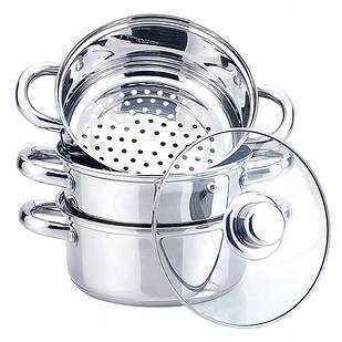 Стальные кастрюли для приготовления пищи на пару 20 СМ 4 EL