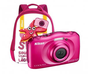 Фотоаппарат Nikon Coolpix S33 Pink + Рюкзак