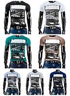 Стильная и модная мужская футболка с принтом