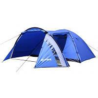 Палатка SOLEX четырехместная синяя (82191BL4)