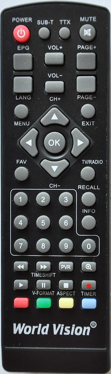Пульт от тюнера эфирного цифрового телевидения Т2 World Vision. Модель T34A
