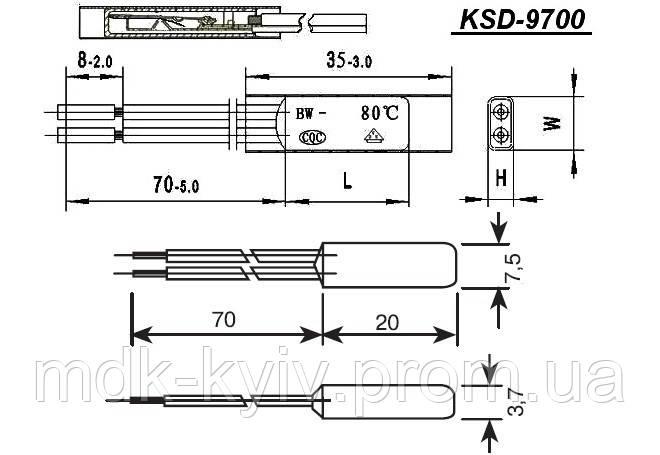 Термопредохранитель KSD-9700