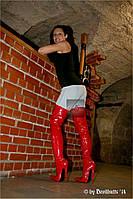 Лакированные ботфорты  каблук 18 см  2 цвета размер 36-46