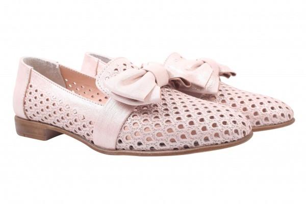 Туфли комфорт Destino натуральный сатин, цвет розовый