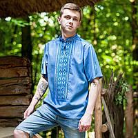 Мужская вышиванка (джинс, ручная робота)