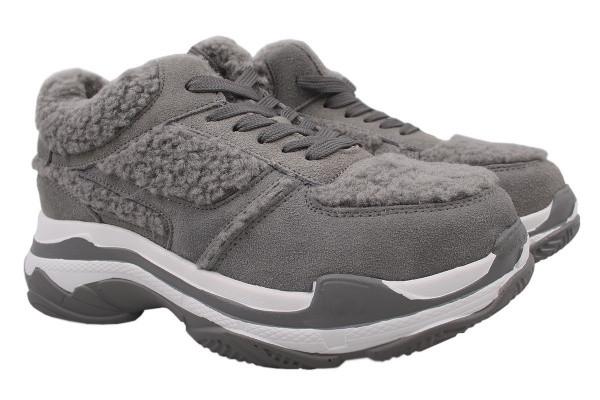 Туфли спорт Chezoliny натуральная замша, цвет серый