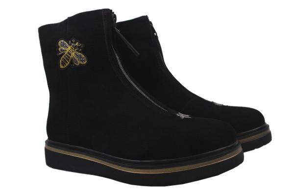 Ботинки Brocoly натуральная замша, цвет черный