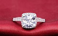 Кольцо, покрытое серебром с цирконами код 701 р 18