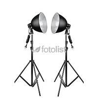 Набор постоянного студийного света Mircopro FL-102-2 KIT, 2х28w, 280 Вт, 5500К