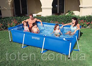 Збірний басейн каркасний 260-160-65 см, Іntex 28271 (58980) Small Frame Pool, прямокутний, 2282 л