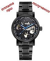Мужские механические часы скелетон Skeleton ОРИГИНАЛ Winner AUTO blue