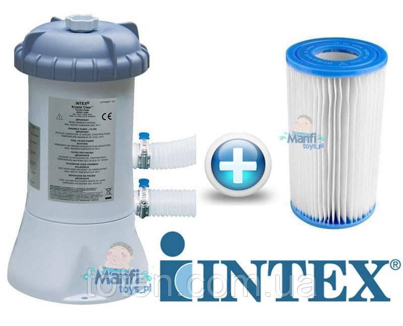 Насос-фильтр картриджный 3785 л/ч, картридж А, шланг 32 мм, Intex 28638 (56638) Н