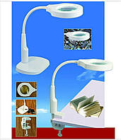 Лампа-лупа 9145T, настольная (подставка + струбцина), 45 светодиодов!