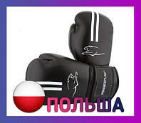 Боксерские перчатки PowerPlay 3016 Чорно-Білі 12 унцій