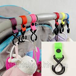 Крючки для коляски (пластик, салатовые)