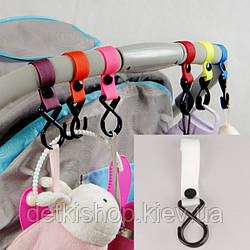 Гачки для коляски (пластик, білий)