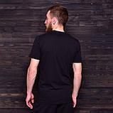 Чоловіча спортивна футболка Nike, чорного кольору, фото 2