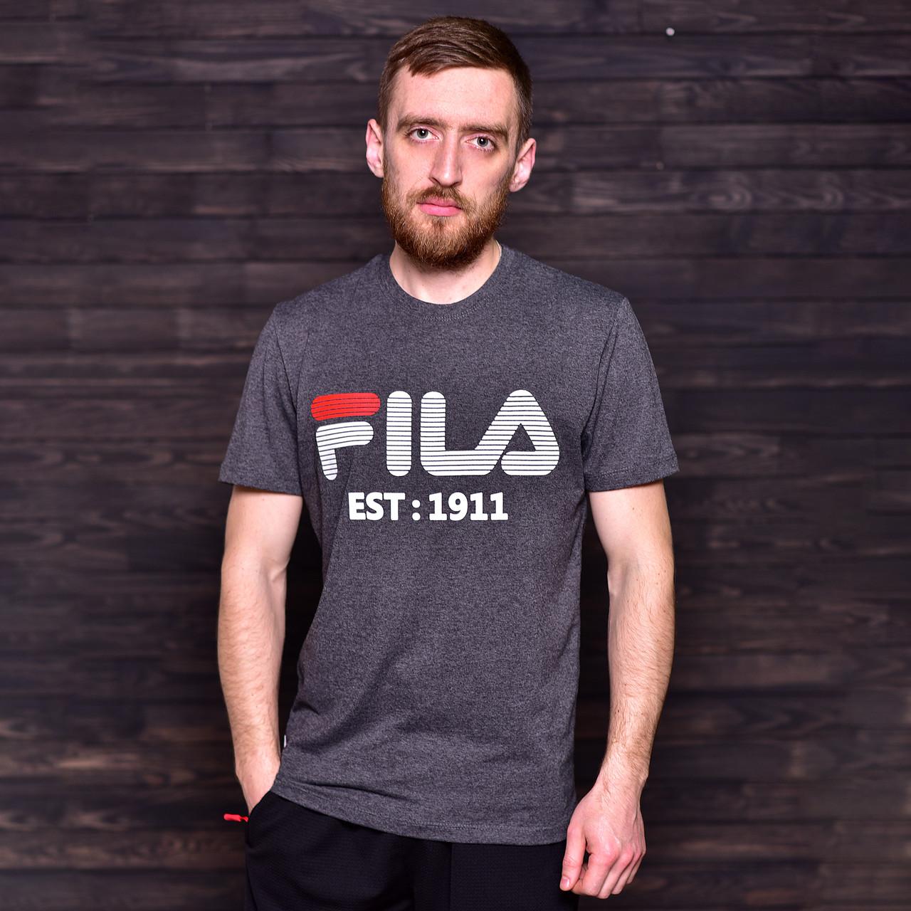 Чоловіча спортивна футболка FILA, темно-сірого кольору