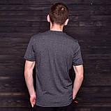 Чоловіча спортивна футболка FILA, темно-сірого кольору, фото 2