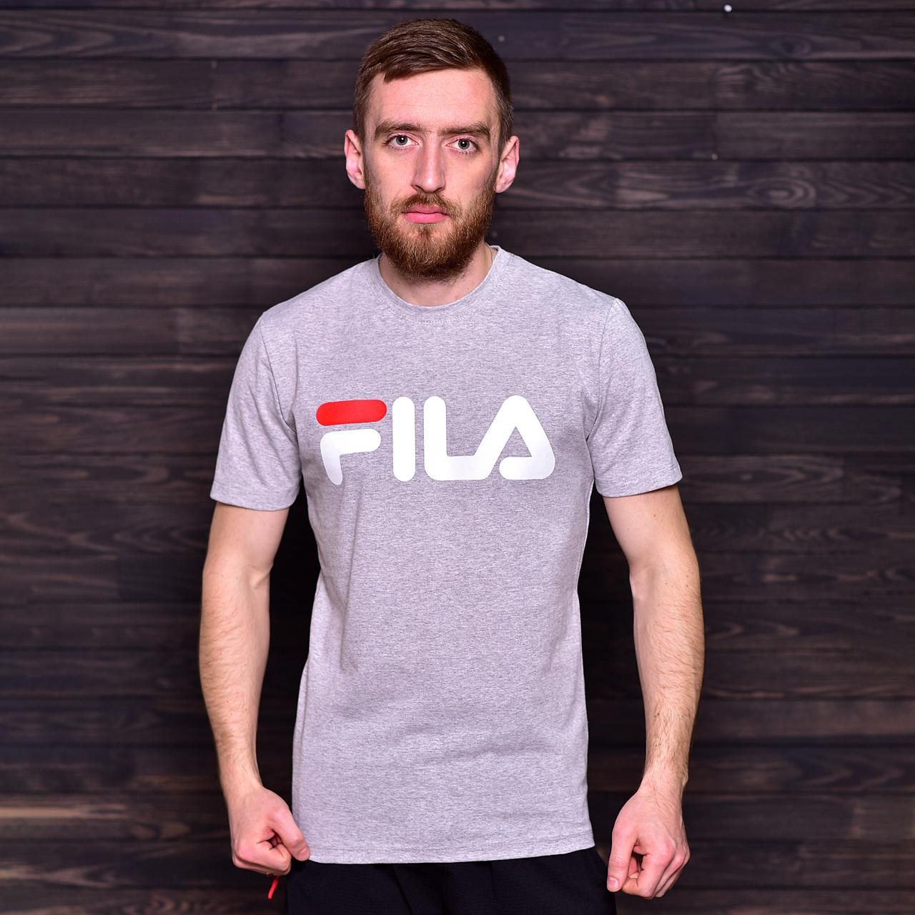 Чоловіча спортивна футболка FILA, світло-сірого кольору