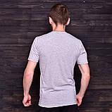 Чоловіча спортивна футболка FILA, світло-сірого кольору, фото 2