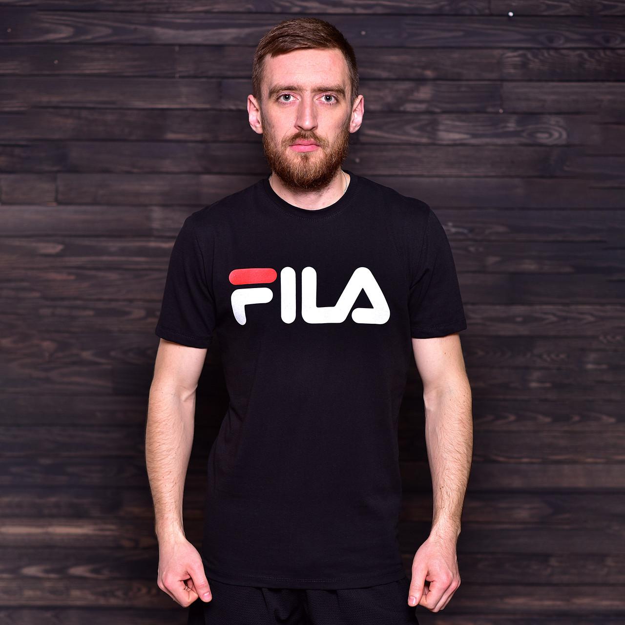 Чоловіча спортивна футболка FILA, чорного кольору